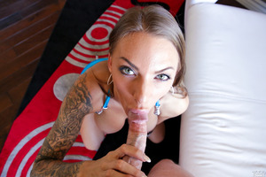 Tattooed beauty Juelz Ventura loves cumshot very much