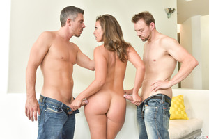 Two guys pounding tight holes of fantastic Kelsi Monroe