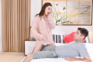 Sweet Kasey Warner catches Brad Knight in her bedroom