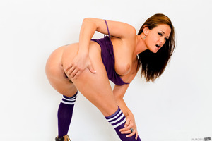 Sexy violet socks on gorgeous legs of sweet Tory Lane