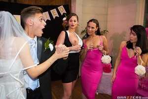 Weddings are a timeless capsule of joy, however, for Chris Diamond it feels like a nightmare! When the newlyweds host their reception party, Chris can't help but notice how cock hungry the female guests are for his dick! Slutty bridesmaid, Mea Malone, and
