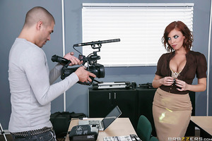 Sexy professor Britney Amber has her hands full with yet another clueless film student. Xander has a lot to learn when it comes to making erotic films, so she shows him exactly how to work the camera while she strips down to her bra and panties. Xander ca
