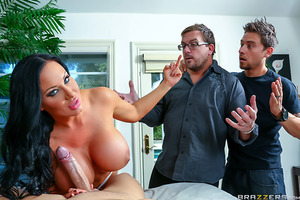 Every husband hopes they know the ins and outs of their adoring wives. For one husband, however, he's about to discover that his sexy and busty wife, Sybil Stallone, is actually a professional hooker! When her eager client Keiran Lee arrives looking to fu