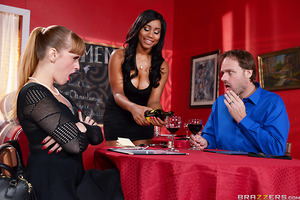 Maitre'd Johnny Castle and waitress Jenna J Foxx are horny as fuck, and though they may work in a bustling high-end restaurant that surely won't stop them from having a romp at the expense of prompt service. However, when the diners finally begin to compl