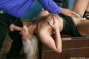 Holly Heart and Ramon may be stuck in a boring office all day long but that doesn't mean they can't run off for a quick fuck session on company time every now and then. Even during important quarterly meetings, these two just can't keep their hands off ea