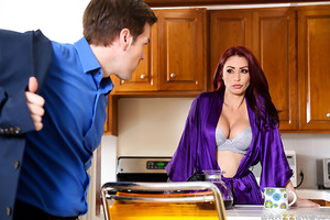 Monique Alexander suspects her husband Jason of cheating, so she does what any suspicious wife would do - she hires Keiran Lee to savagely fuck her in the middle of the night as her husband is made to watch.