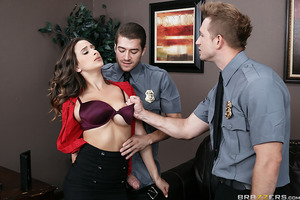 Ashley Adams doesn't take kindly to the security guards in her office building wanting to stop and search her on her way to work. She shows them no respect, taunting and even slapping them, so when security guards Bill Bailey and Xander COrvus show up in