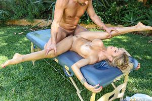 Toni Ribas is worried he'll fail his exam to become a massage therapist because he doesn't have enough hands on experience. He asks his stepmom Alexis Fawx if he can practice on her and though she is reluctant at first, she eventually agrees. Once Alexis