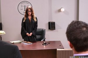 When his client is sued for a sexual misdemeanor, Keiran Lee takes it upon himself to prove to the honorable Jessica Jaymes, a.k.a. Judge Juggy, why having sex at the workplace shouldn't be an offense but a right. But will Judge Juggy side with Mr. Lee? W