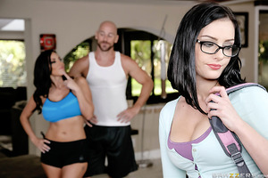 Amanda Lane is a shy little nerd who doesn't know how to talk to boys. Luckily for Amanda her stepmom Veronica Rayne is a milfy slut who knows everything there is to know about fucking and sucking. Not only is she whorish, she's generous too, because Vero