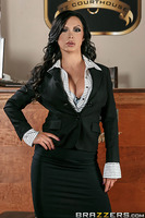 Sleazy defense lawyer Danny D and his client Tony Lucci enter the courtroom confident of winning their case. The only problem is that the sexy prosecutor, Nikki Benz, teases Mr. D so much that he's distracted from the case but attracted to her huge boobs!