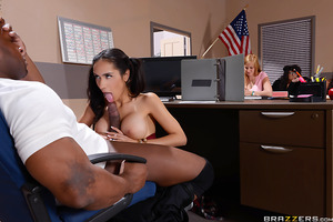PE teacher Prince Yahshua is subbing in for a sick history teacher so his students decide to have some fun. On a dare, Tia Cyrus goes up to the front of class and blows Prince as he's giving his lecture! Once he discovers that he's been the victim of a st