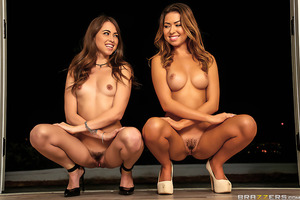 The only thing better than Riley Reid is two Riley Reids, or in this case Riley Reid and Melissa Moore. These lookalikes love to play tricks on Keiran almost as much as they love to share his big cock. They've got him seeing double with their cute faces,