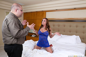 Levi Cash's stepmom Diamond Foxxx has needs: she wants to get fucked rough and hard by her husband but unfortunately for her he is only interested in soft wimpy lovemaking. Luckily for Diamond, Levi is more than willing to give her the savage fucking she