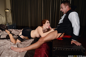 While getting ready for a Halloween party, Veronica Vain is horny and wants to have a quick fuck with her husband. Too bad he's so lazy. The good wife waits upstairs and pleasures herself, rubbing her clit and playing with her sweet tits while waiting for