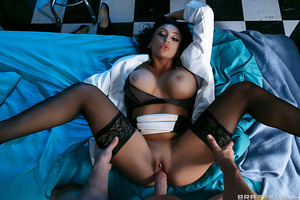 """Johnny Sins hasn't had a good rest in ages. Dr. Audrey Bitoni suspects that it may have something to do with his frigid wife denying him pussy on a regular basis, so she comes up with the perfect solution: keep Johnny overnight for """"observation,"""" fuck his"""