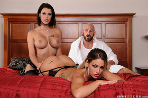 Two of the hottest starlets in porn, Kissa Sins and Peta Jensen, showcase their assets in Brazzers' Heavenly Bodies. Kissa and Peta suck and fuck the luckiest man in porn: Johnny Sins. With Peta's plump tits and Kissa's juicy ass, it's an amazing and heav