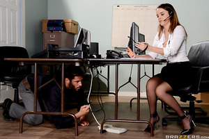 Dillion Harper and Damon Dice work at a call center together in which they're competing against one another for survey completions. Dillion tries to screw Damon over as best she can, unplugging his computer and his phone, but he soon realizes she's just a