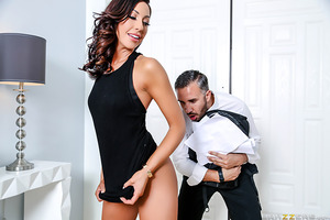 A horny housewife, Tiffany Brookes, is looking for some afternoon delight, only problem is that her busy husband has no time for her sexual needs. Frustrated, the wife is delighted when a nervous door-to-door salesman, Keiran Lee, stops by to sell her som