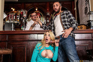 Having worked at the pub for most of her adult life, Tamara Grace has seen a lot of barflies in her time who all compliment her on her wonderful, succulent rack of sweet titties. But Tamara may have met her match when her bar hand Keiran Lee charms her pa