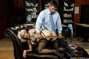 Jenna Ivory isn't your typical public educator. She's a naughty professor with a bad attitude and a slutty disposition. Unfortunately for her Dean Mick Blue doesn't take kindly to whores on his faculty. That's because Mick is old school. If Jenna won't re