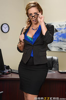 Cherie Deville is a corporate downsizer. It's her job to break the bad news to corporate employees after they've been fired. But it's not all bad news for newly unemployed grunts like Johnny Sins, for nothing softens the blow of getting laid off quite lik
