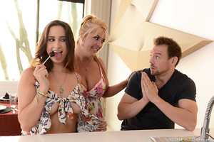 Erik Everhard wants nothing to do with his stepdaughter, Ashley Adams, because she's a dirty slut who loves to fuck. But his wife strongly encourages him to get to know his new stepdaughter. While spending some quality fucking time together, the two reali