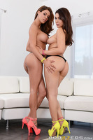 Porn superstars Peta Jensen and Valentina Nappi may seem remote and out of reach but at heart they're a couple of down-to-earth gals who enjoy the simpler things in life: ripped jeans, colorful shoes, and giant cocks in and around their mouths and pussies