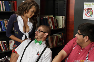 Busty slut Cassidy Banks has sucked every cock in her school--except for the two nerds that no other girl will go near. Determined to suck every dick in her school, Cassidy seduces the biggest geek, Xander Corvus, and shows him how no stupid toy or silly