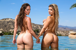 Get ready for the hottest lesbian sex ever! Adriana Sephora, the busty blonde beauty, strips out of her sexy black bikini when the irresistibly cute Remy LaCroix and her famous booty join her for some fun in the sun! The girls get soaking wet--not from sp
