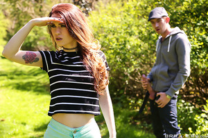 Playful and horny, Misha Cross wants to play a game of hide and seek in the woods. Danny D isn't interested until Misha adds one all important stipulation - if she finds him, she gets to suck his big cock. Naturally it doesn't take Misha very long to find