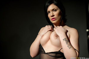 Beautiful but shy Asphyxia is set for a nude modeling shoot with photographer Andy San Dimas. She has never been with a woman before and isn't sure how to  Once Andy helps her get a bit loose, Asphyxia opens up and begins giving in to Andy's very hands on
