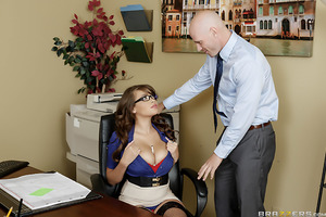 Johnny Sins arrives for his job interview, but is quickly distracted by the busty receptionist, Cassidy Banks. Enthralled by her huge succulent tits, Johnny tries his best to seduce Cassidy, which makes him forget all about the interview. While thinking a