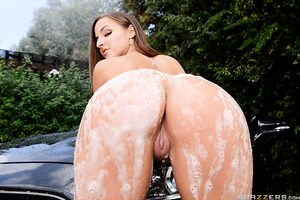 Danny can't believe his eyes when his crazy ex-side piece  Amirah shows up at his house. The sexy cumslut is washing his car like they never broke up! Her big, wet ass looks incredible bent over the hood of his car, but his wife will be home any minute! A