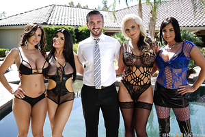 Welcome to the Brazzers House Sex Challenge! In this episode it's every slut for herself  as Ava Adams, Phoenix Marie, Tory Lane and Romi Rain must each bang their way through four unique fuck rooms. With every room having it's own set of rules and restri
