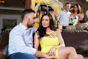 Kendra and Keiran aren't sure Adriana is good enough to date their son. They've just met her and she seems like a nice girl, but Kendra senses she might just be a dirty little slut. To find out for sure Kendra gets Adriana alone in her bedroom and examine