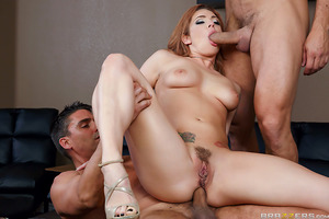 """Ramon and Toni have to get along living under the same roof. The one thing they DO agree is how fucking gorgeous Dhalia Sky is! Watch Dahlia Sky's dripping wet pussy and curvaceous body suck and fuck two huge cocks in """"Step Brazzers""""."""