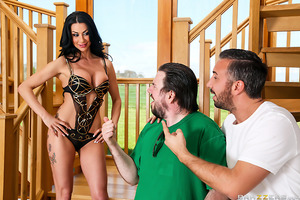 Valeria Visconti is all ready for her day on set, but when her costar turns out to have a tiny dick, she decides to just fuck the photographer instead! She starts off with an expert blowjob, showing off her dick sucking skills to get shutterbug Keiran's c