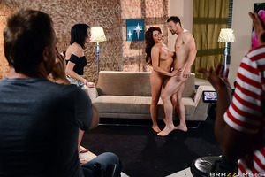 Christiana Cinn has been doing girl-girl porn for way to long, and her controlling girlfriend wants it to stay that way, but when a last minute change is made, this brunette beauty decides to give Erik Everhard's dick a try. Once the camera is rolling and