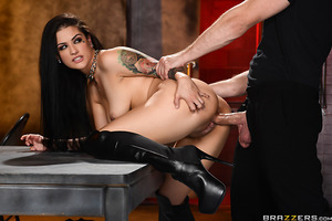 When Katrina Jade let it be known she wanted to be a top porn star on a network like Brazzers, she was snatched by two hench-men to a secret location to test her porn prowess! From the get-go, Katrina told her examiners she could handle whatever cock they