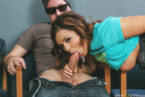 There's no talking in the dean's office, so Jessy Jones is going to have to find another way of asking Keisha Grey to show him her big natural tits. After passing a few notes he convinces this badgirl to get down on her knees and suck his hard cock like t