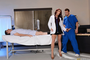 There's no text book answer for Dr. Monique Alexander's fever for fucking, so her med student Erik is going to have to come up with a more hands-on approach. Tired of his incessant ass-kissing, Monique wants the pussyfooting around to stop, and the pussy