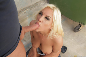 Blondie Fesser is a big titted blonde beauty from Argentina who's gone all the way to Barcelona in search of fresh dicks. Check it out as the lusty Latina takes to the streets to pick up a lucky dude, offering complete strangers a shot at fucking her tigh