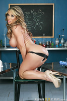 Professor Farrah Dahl's colleague in the lab has never seemed to notice her interest, despite her her very thirsty ways. To make her fantasy of taking Jessy's cock between her big tits cum to life, Farrah worked long hours in the lab developing a special
