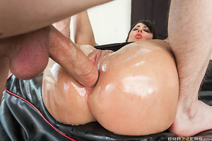 Dollie Darko has a big juicy ass and some huge fake titties, which makes her perfect for Big Wet Butts and Danny D's fat dick. After teasing the camera with her wet booty and insane curves, she takes some huge dildos deep in her tight asshole to get herse