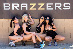 This time on Brazzers House, it's a rude awakening as the ladies of Team Keiran and Team Nikki are subjected to a brutal obstacle course! See the tits bounce and the booties jiggle as those sexy starlets contort themselves into crazy positions trying to m