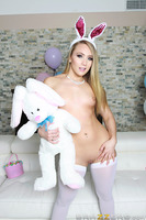 It's Easter time, and AJ Applegate has a very special holiday treat for all of you booty-loving perverts out there: an all-anal Easter extravaganza! After warming up her tight little asshole with a bunny-tail butt plug, AJ spreads her luscious cheeks wide