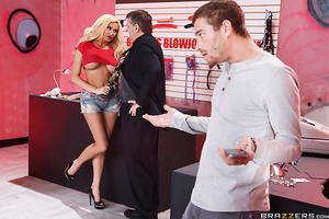 When Summer Brielle blew off a paying customer at Bonnie's Blowjob Emporium, her manager Bonnie Rotten was willing to do whatever it took to make it right. Seeing Summer gobble down that big cock made Bonnie horny as fuck and she decided to join in on the