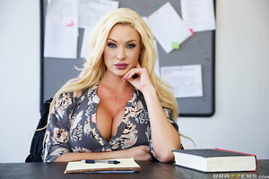 When Ritchie delivers pointless drivel in his creative writing class, his blonde bombshell of a teacher, Summer, comes up with an extra credit assignment that'll help him find his voice. After teasing his cock in the bathroom, sultry Summer leaves him a n