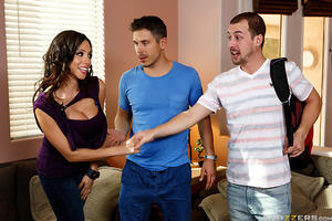 Ariella Ferrera wanted to take things slow in her new relationship, but her cock cravings have been getting so intense that she's starting to lose it! Lucky for her, her boyfriend's son Jessy Jones is home from college and ready to give that MILF slut the